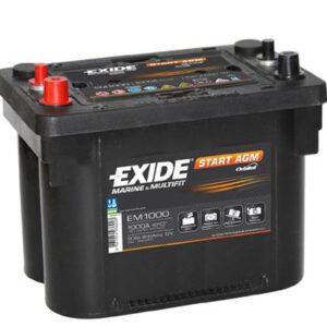 Akumulator EXIDE 50Ah 800A EM1000