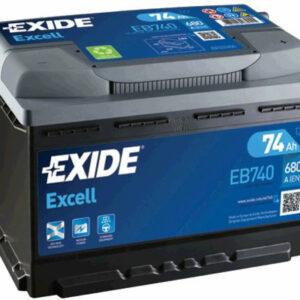 Akumulator EXIDE 74Ah 680A EB740