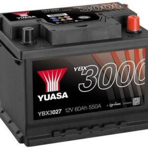 Akumulator YUASA 60Ah 550A YBX3027