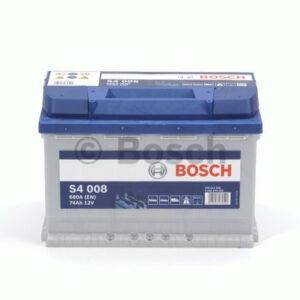 Akumulator BOSCH S4 74Ah 680A 0 092 S40 080
